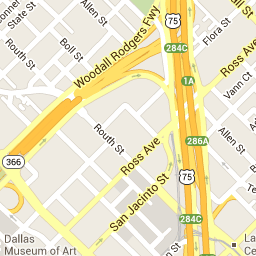 Dallas Museum of Arts Map