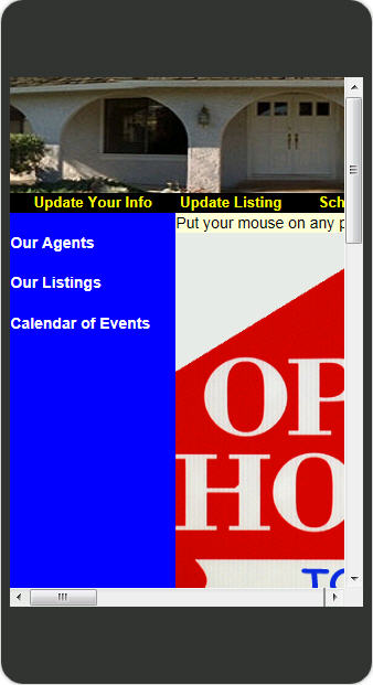 Open House Manager tool Mobile version