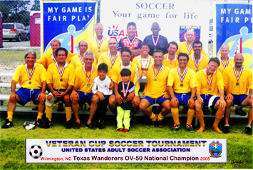 Bahman Champion of U.S.A. Veteran Cup Tournament in Wilmington, NC in 2005